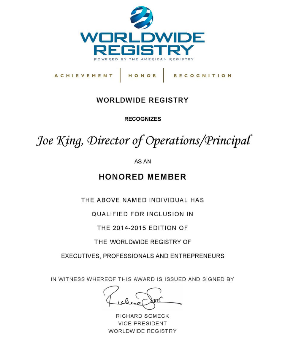 3D Multimedia Accomplishments and Recognition in WorldWide Registry